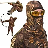 Camo Face Mask – Camo Face Mask Hunting Mask – Turkey Hunting Face Mask – Bow Hunting Face Mask Mesh - Duck Hunting Face Mask – Camouflage Face Mask Hunting - DecoyPro