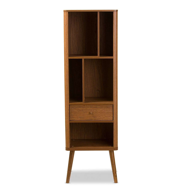 amazoncom baxton furniture studios ellingham midcentury retro modern cabinet bookcase organizer kitchen u0026 dining
