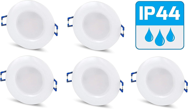 Lot de 18 spots LED encastrables pour salle de bain IP18 18 V rond