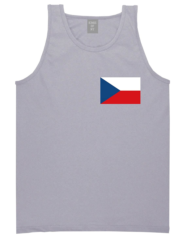 Czech Republic Flag Country Chest Tank Top Shirt