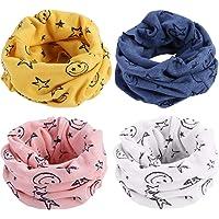 BESTZY Bufanda de los niños 4PCS bebé pañuelos Bufanda de algodón de Invierno Calentador de Cuello bufanda de algodón…