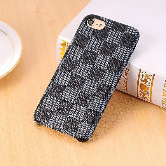 68bd62df67697 Keklle iPhone 8 Plus / 7 Plus case, New Elegant Luxury PU Leather Checker  Pattern Classic Style Cover Case For iPhone 7 Plus iPhone 8 Plus (Color :  ...