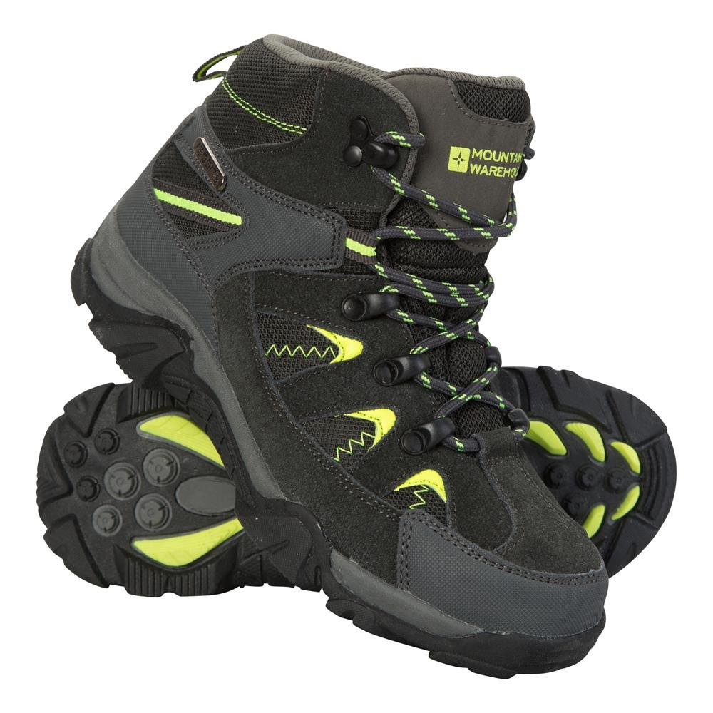 Mountain Warehouse Rapid Kids Boots - Childrens Walking Shoes Lime 5 Child US by Mountain Warehouse