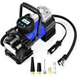 AstroAI Air Compressor Tire Inflator Portable Air Pump for Car Tires 12V DC Digital Tire Pump 150PSI with Emergency LED…