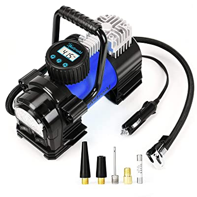 Motorcycle Portable Emergency Electric Air Compressor Pumps Tyre Tire Inflator