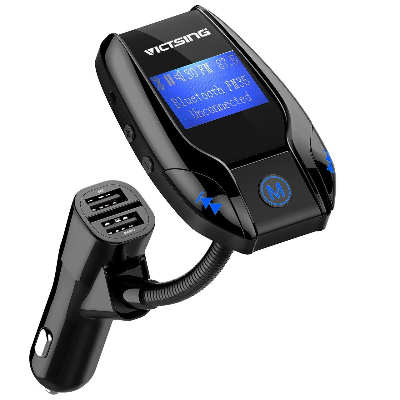 VicTsing Manos Libres Bluetooth Coche Kit Radio Receptor Transmisor FM Bluetooth para