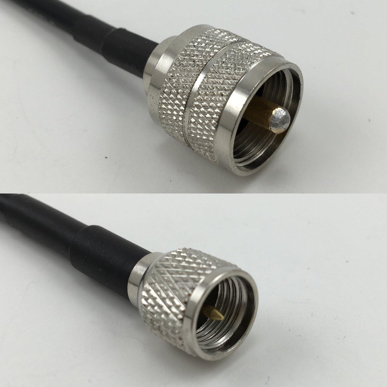 6 feet RG316 Mini UHF Male to Mini UHF Female RF Pigtail Coaxial Cable
