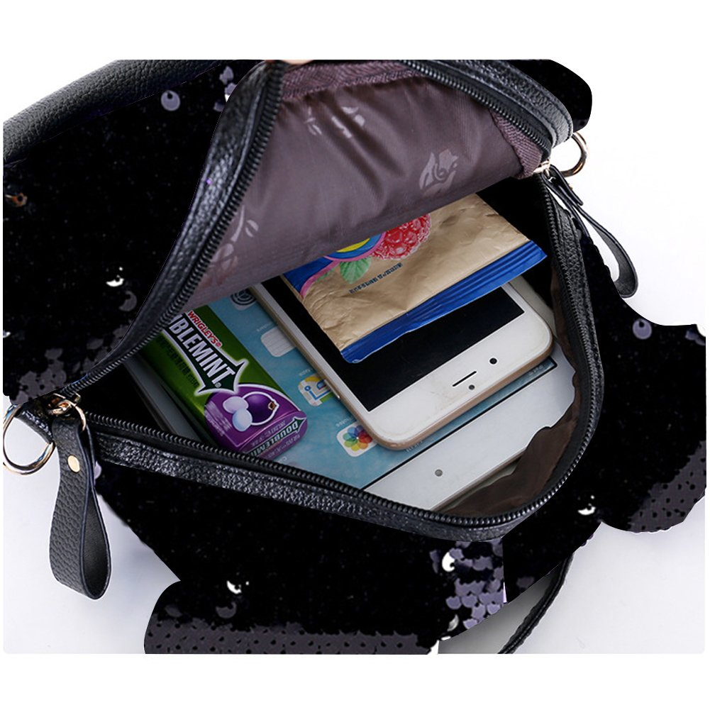 45136d565d8e Amazon.com: RARITYUS Women Girls Dazzling Sequins Backpack with Cute ...