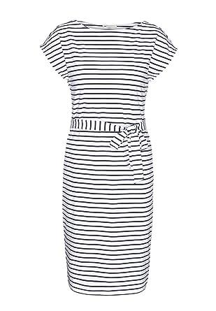 2187a59d9ca4 armedangels Damen Jerseykleid aus Bio-Baumwoll Mix - Alada Stripes - XL  White-Dark