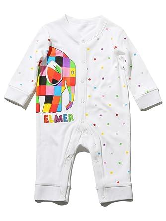 M Co Elmer The Elephant Unisex Baby Pure Cotton Long Sleeve Stretch