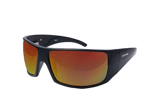 Ocean Sunglasses Brasilman - lunettes de soleil polarisées - Monture : Jaune - Verres : Revo Jaune (18301.1) NyOIkIE