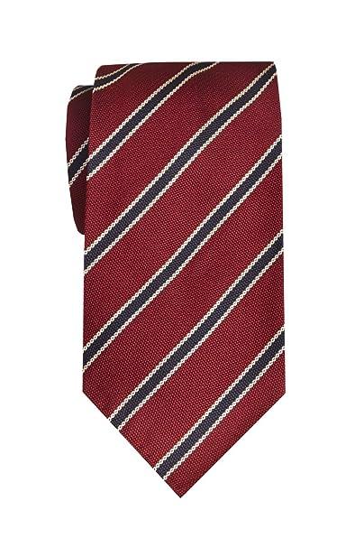 Remo Sartori - Corbata larga XL de seda a rayas regional, longitud ...