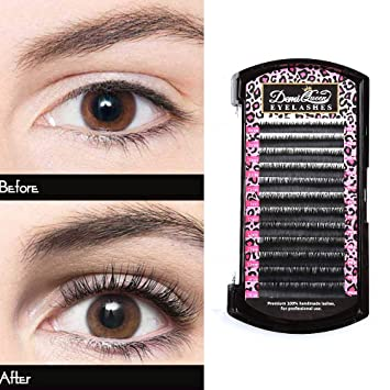 555948c8db3 DEMI QUEEN 100% Real Mink Individual Eyelashes Extensions Natural Volume Eye  Lash Salon Use Mix