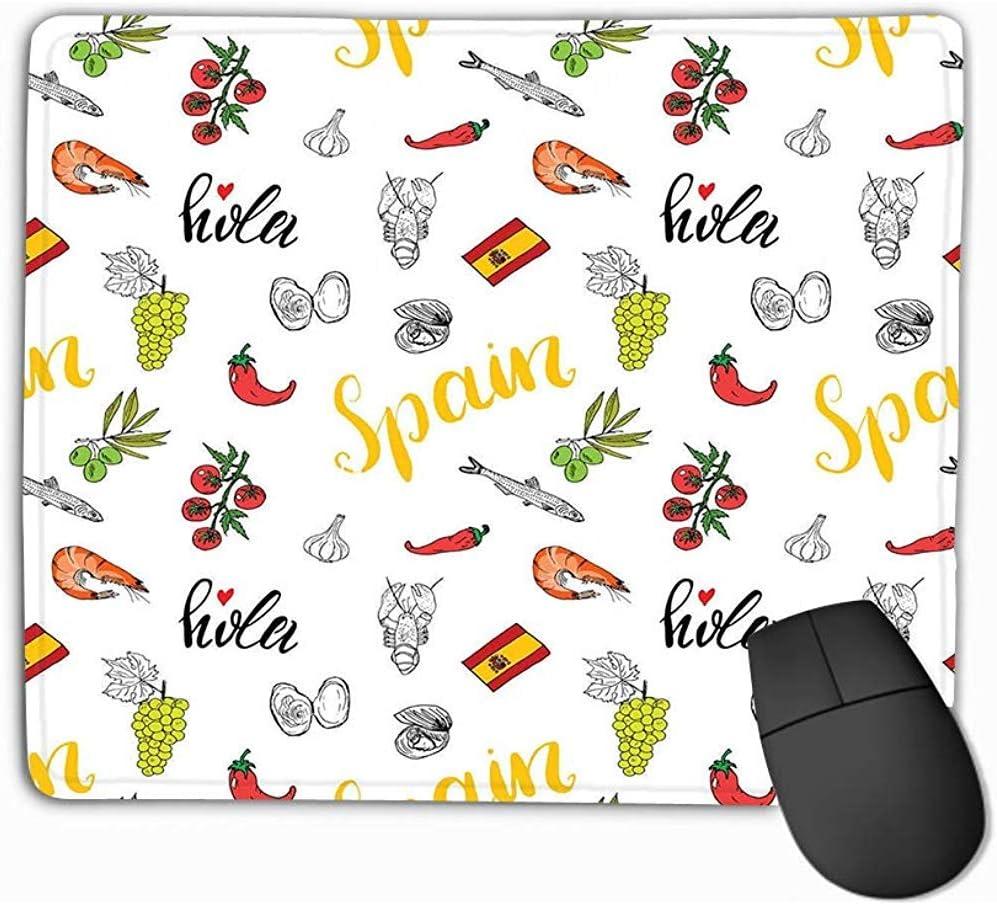 Alfombrilla para ratón España Doodle Elementos Boceto Comida ...