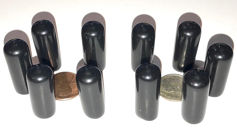 "20 Flexible Vinyl Round End Caps 5//16/"" Screw Bolt Rod Protectors Plastic Rubber"