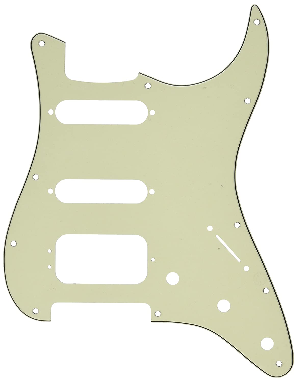 Fender Modern Pickguard, HSS Stratocaster, 11-Hole, White, 3-Ply ...