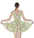CowCow Womens Light Green Skater Dress, Green - XS
