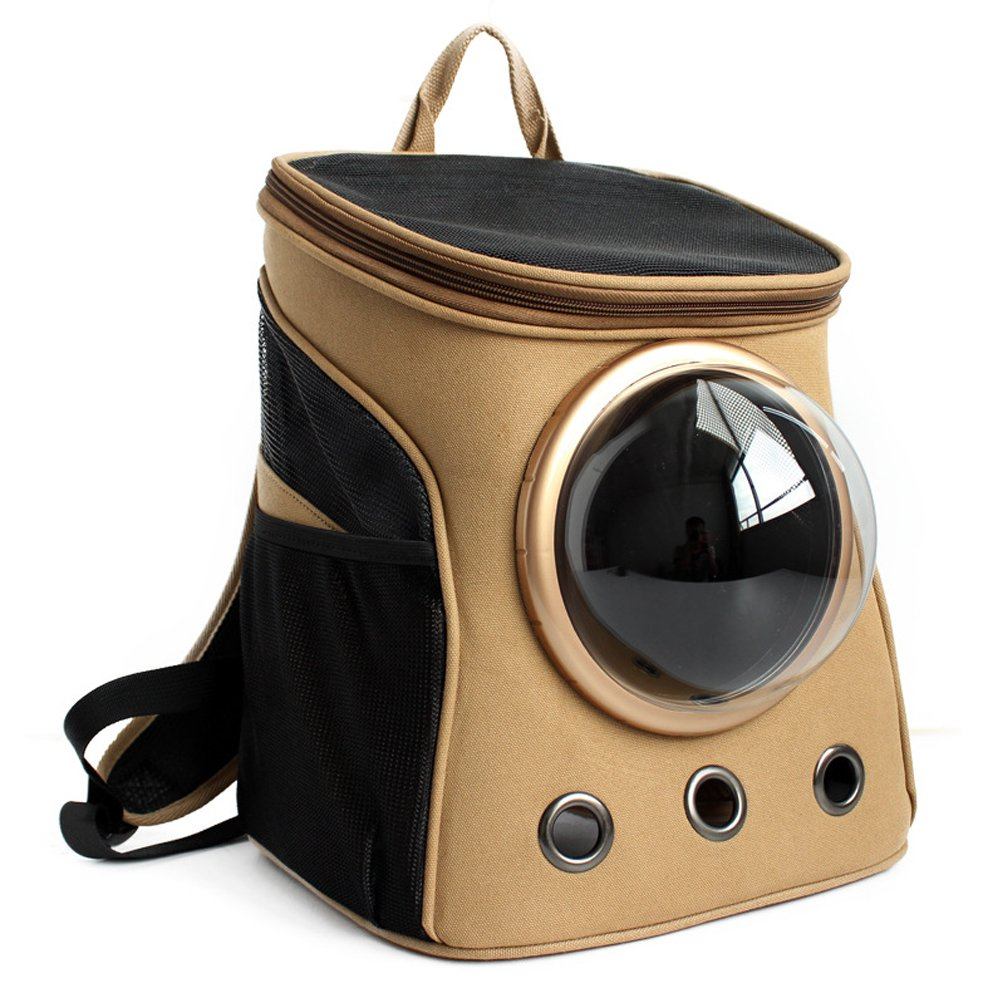 Pet Carrier for Dogs & Cats, Alotm Pet Travel Carrier Pet Bag with Capsule Window And Removable Fleece Cushion Capsule, Perfect for Air, Train, and Car Travel, 13x9.8x15inches
