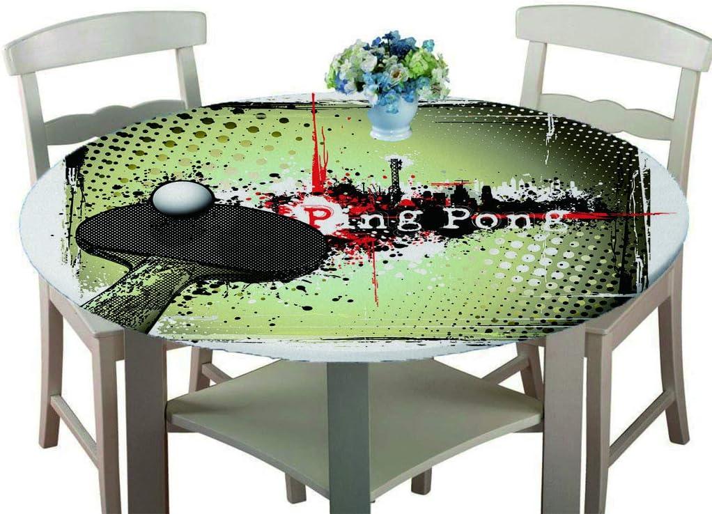 LLPZ Mantel Redondo De Poliéster Mesa De Ping Pong Moderna Cocina Multifuncional Patio Impermeable Y Resistente Al Aceite 140 Cm De Diámetro