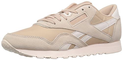 0909694724 Reebok Women's Classic Nylon Walking Shoe, Seasonal-Bare Beige/Pale, 9 M US