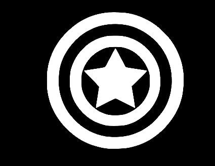 4 x 4 Captain America Shield Vinyl Sticker Decal *Sizes*