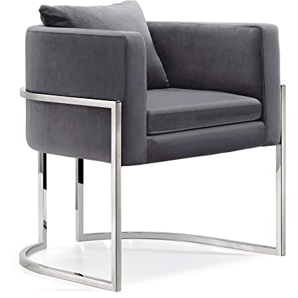 Stupendous Amazon Com Meridian Furniture 524Grey Modern Contemporary Cjindustries Chair Design For Home Cjindustriesco