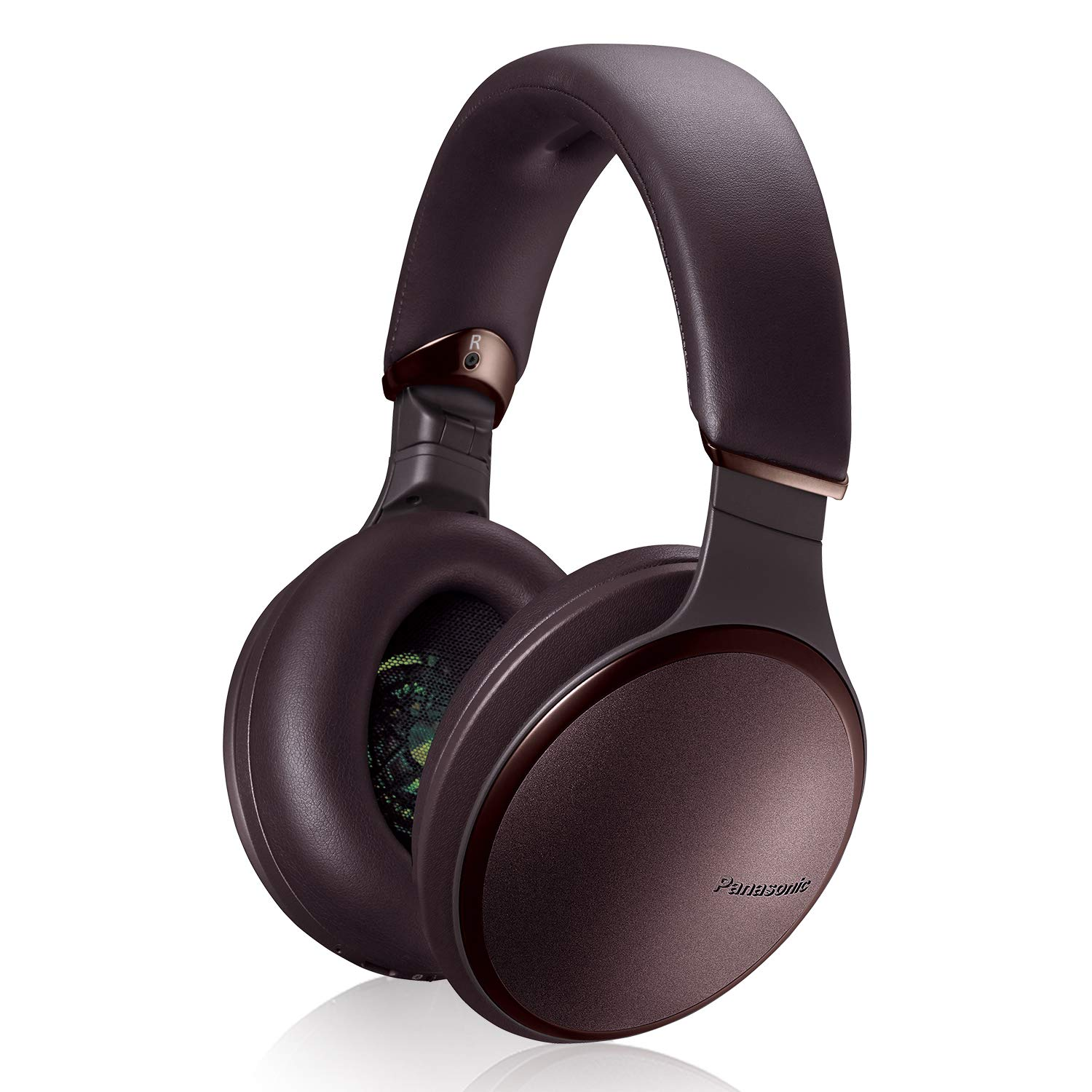Panasonic Noise Cancelling Headphones with Wireless Bluetooth, Alexa Voice Control & Other Assistants - RP-HD605N-T - Over The Ear Headphone (Brown)