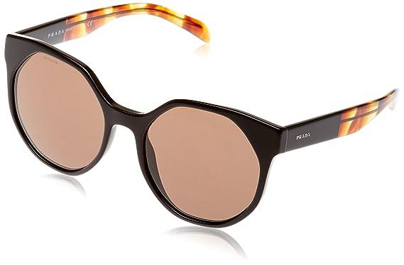 de6110acf4 Amazon.com  Prada Women s 0PR 11TS Black Striped Brown Brown One ...