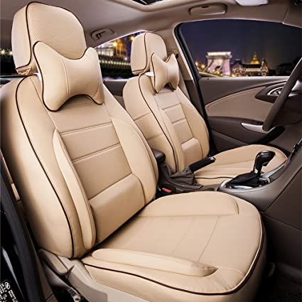 Admirable Amazon Com Autodecorun Deluxe Leather Car Seat Covers Theyellowbook Wood Chair Design Ideas Theyellowbookinfo