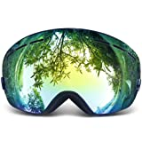 Copozz Ski Goggles Pro Snowboarding Goggle with UV 400 Double Lens Anti-fog Ski Goggle for Winter Skiing Skate for Women and Man for Gifts