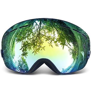 b904c15217a Copozz Ski Goggles Pro Snowboarding Goggle with UV 400 Double Lens Anti-fog  Ski Goggle