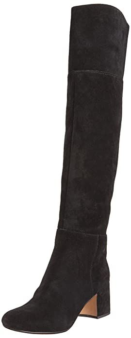 Clarks Women's Barley Ray Long Boots, Black (Black Suede), 5.5 UK