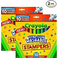 Crayola 10 unidades Ultra Clean expresión estampador marcadores