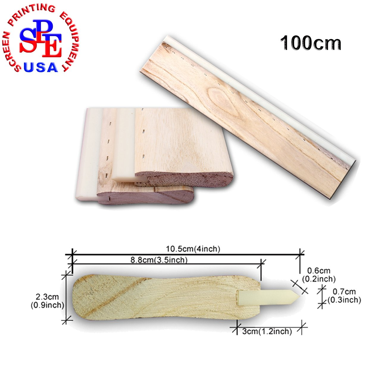 100cm(39inches) Silk Screen Printing Cusp Squeegee Oliness 75 Durometer