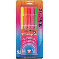 Sakura 58174 5-Piece Gelly Roll Blister Card Moonlight 06 Fine Point Gel Ink Pen...