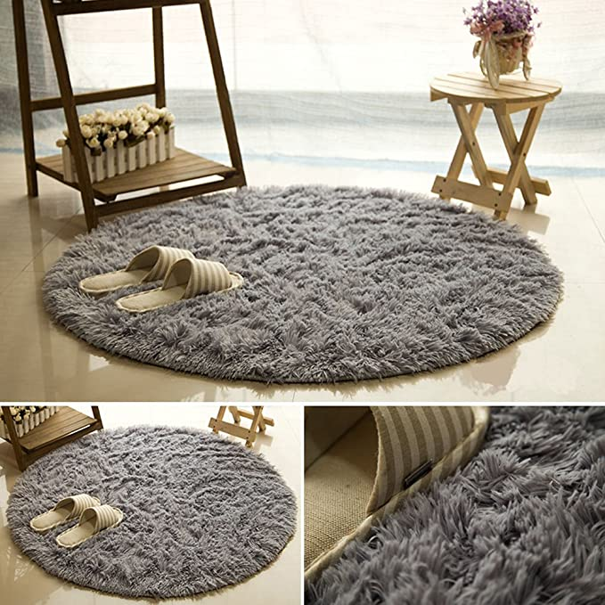AFUT 40CM Rug Fluffy Rugs Anti-Skid Shaggy Area Rug Multi Colors Carpet Floor Mats Best for Dining Room Home Bedroom Decoration /& Baby Child Kids Playing
