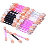 eBoot Disposable Dual Sides Eye Shadow Sponge Applicator Brush Makeup Tool, 100 Pieces, Multicolor