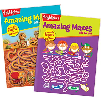 Highlights Amazing Mazes 2-Book Set for Kids - Beginner: Highlights for Children: Toys & Games