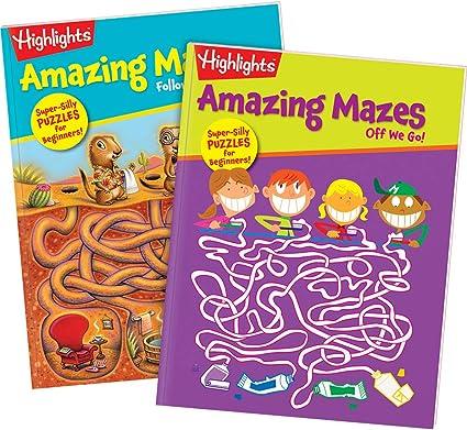 Amazon.com: Highlights Amazing Mazes 2-Book Set for Kids - Beginner: Highlights for Children: Toys & Games