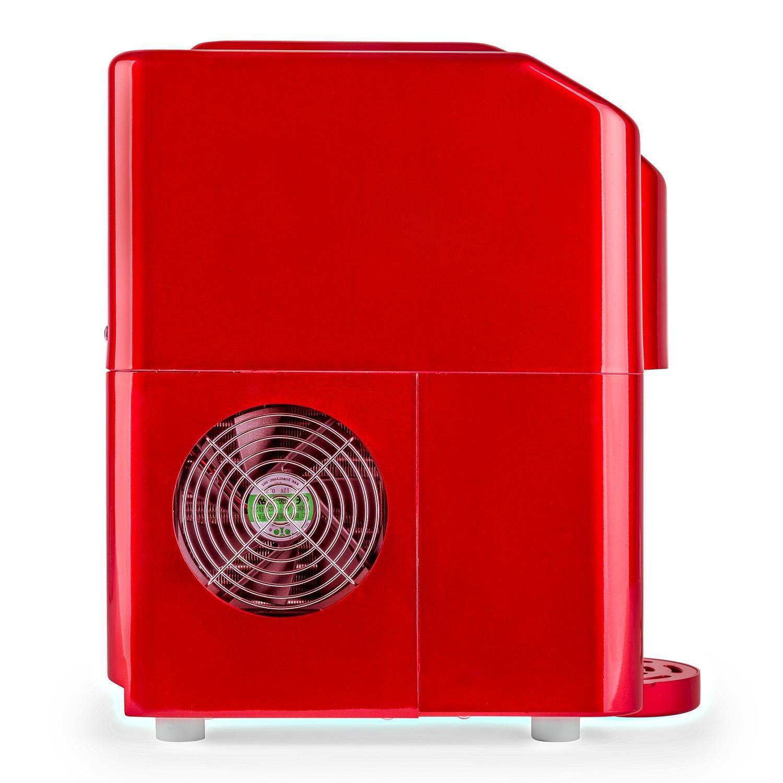 Klarstein Ice Volcano Eisw/ürfelbereiter Gastro Eisw/ürfelspender f/ür 2 verschiedene Eisw/ürfelgr/ö/ßen 3 Liter Eisautomat, FCKW-frei mit Kompressor, LED-Lichteffekt schwarz