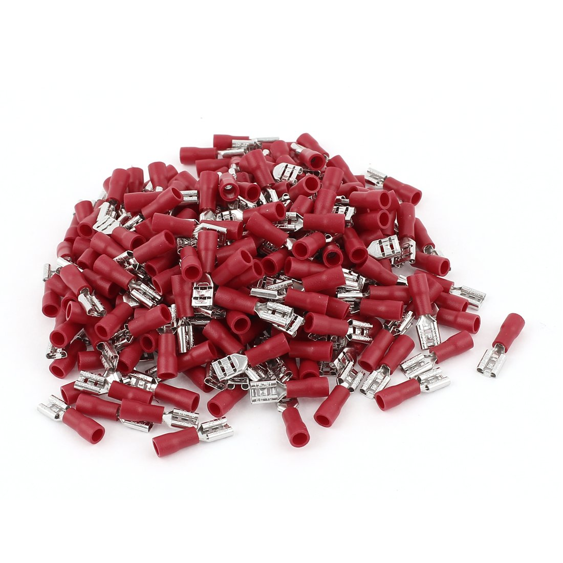 Uxcell FDD1-187 Female Spade Insulated Terminal Connector with 240 Piece, Red
