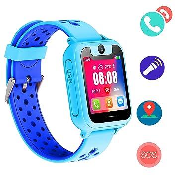 Jaybest Niños SmartWatch Phone - Niños Smartwatch con rastreador de LBS con Linterna de Llamada SOS cámara Pantalla táctil Juego Smartwatch Childrens ...