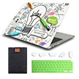 MTAOTAO MacBook Air 13 Inch Case 2020 2019 2018 Release Model A1932 A2179 A2337 M1, Durable Hard Case Cover with Laptop Sleev
