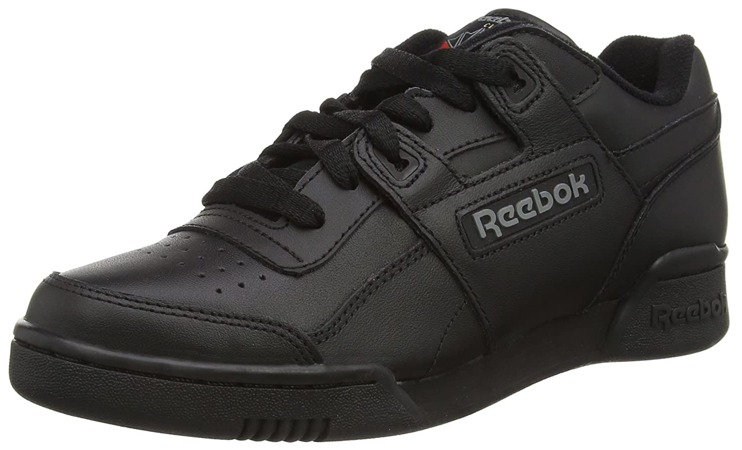 Reebok Unisex-Erwachsene Workout Plus Low-Top  36.5 EU (4.5 UK)|Schwarz (Black/Charcoal)