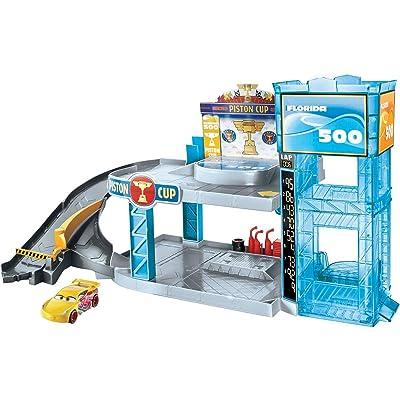 Disney Pixar Cars Florida 500 Racing Garage: Toys & Games
