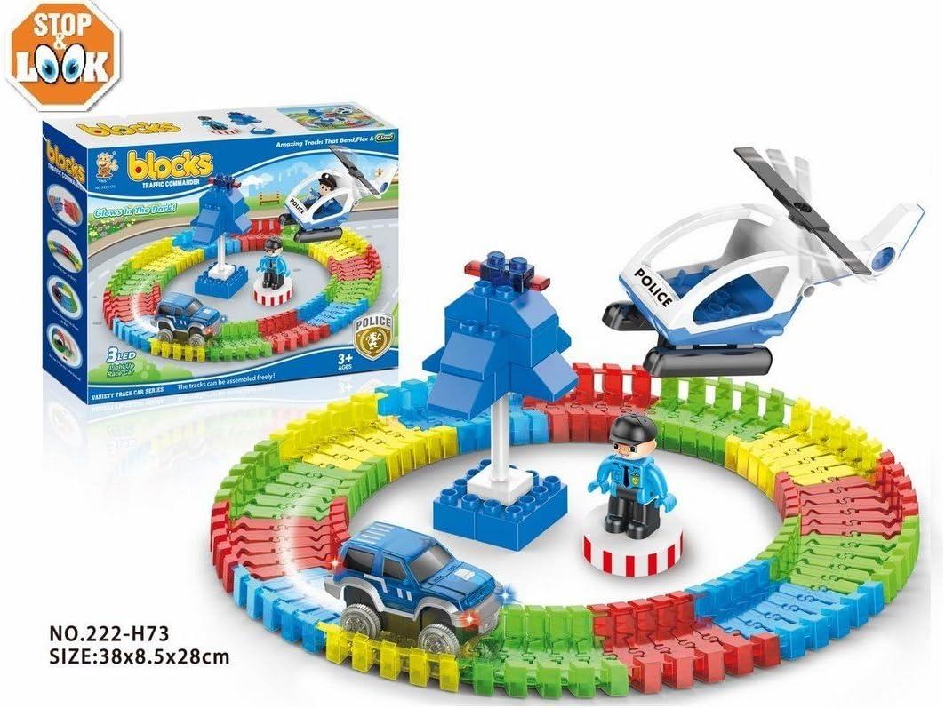 Stop & Look 000658302 - Juego de Bloques de policía Flexible (89 Piezas, Dimensiones: 38,3 x 28,2 x 8,5 cm), Multicolor: Amazon.es: Juguetes y juegos