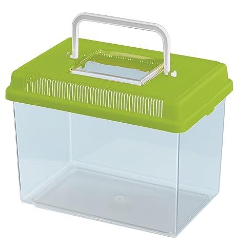 Feplast 60021099W2 Acuario para Peces Geo Medium, Plástico Robusto, Asa para Un Fácil Transporte