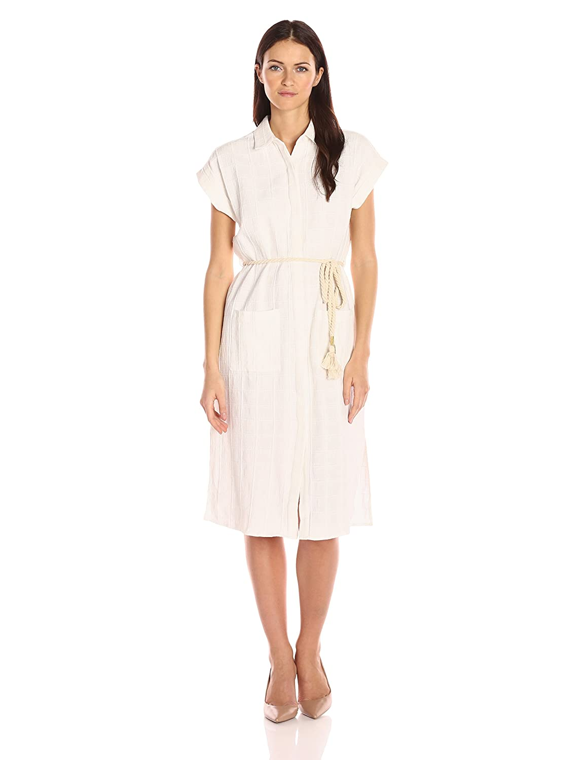 Moon River Womens Linen Shirt Dress With Rope At Amazon Womens