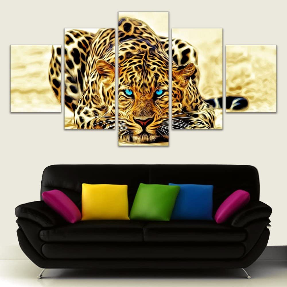 Leopard Canvas Pictures The D CANVAS WALL ART DECO LARGE READY TO HANG all sizes