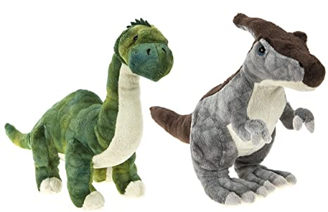 "DINOSAUR ANIMAL PLANET - Set of 2 Plush toys ""Brontosaurus"" (9"""